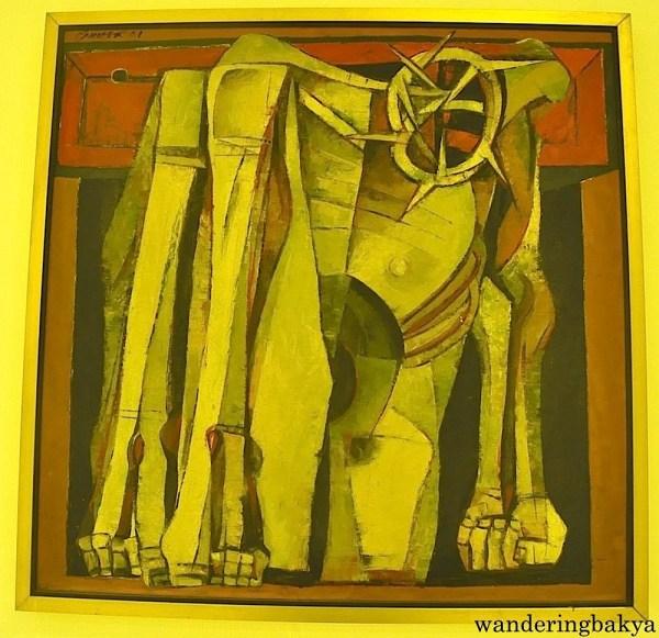 Pieta by Ang Kiukok (Oil on canvas)