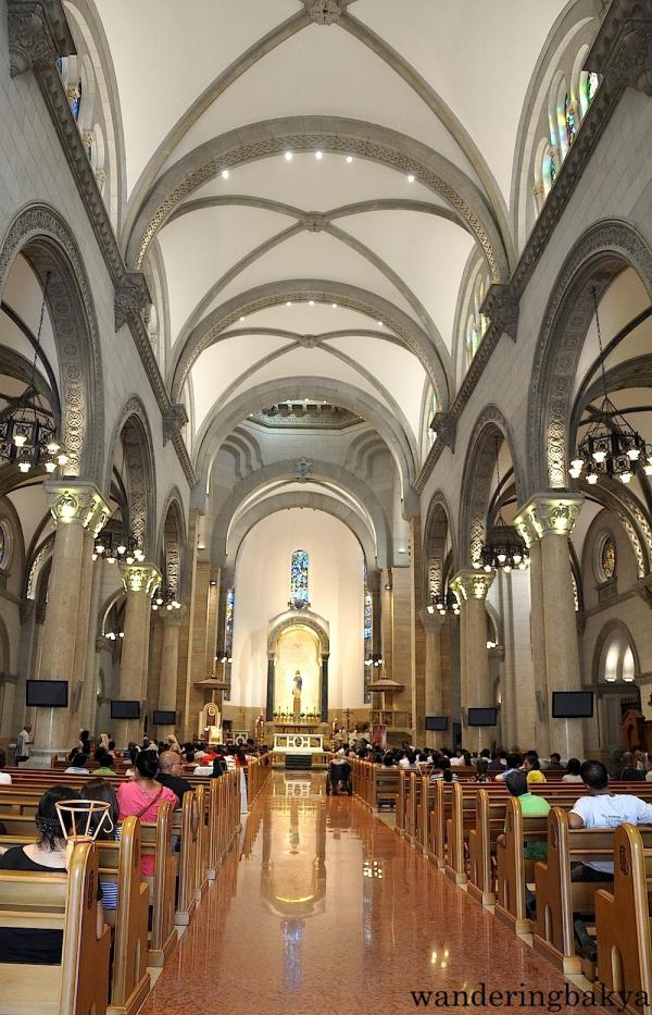 The interior of Manila Cathedral