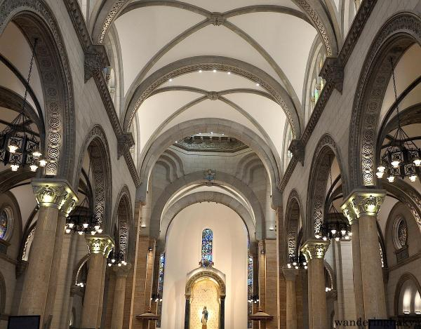 The interior of Manila Cathedral reminds me of Rivendell. The subdued color and elegant design are captivating.