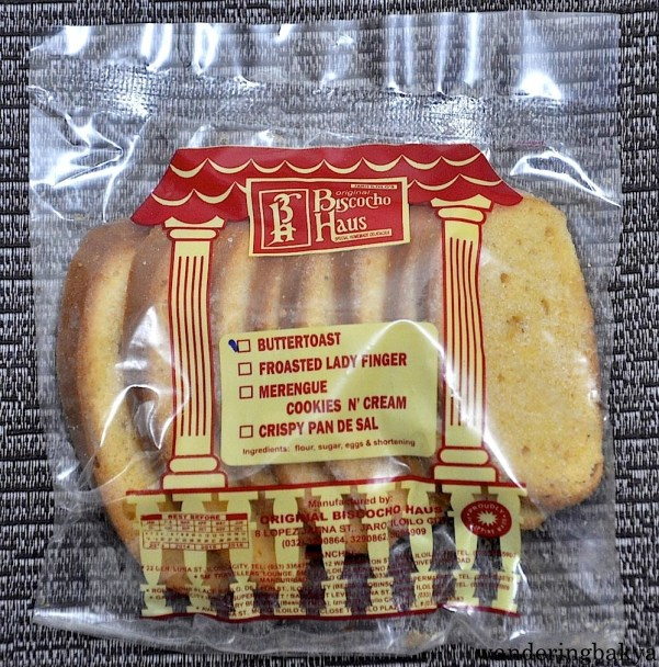 Buttertoast. One of my favorite food-on-the-go. Its ingredients are flour, sugar and shortening.