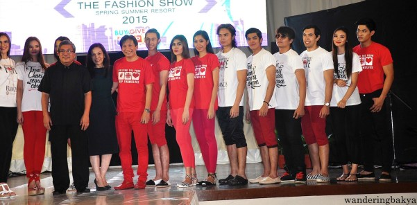 PJ Arañador joined the models on stage