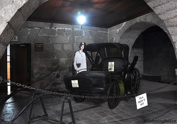 Emilio Aguinaldo's carriage. Aguinaldo used the convent as his office while he was in Malolos.