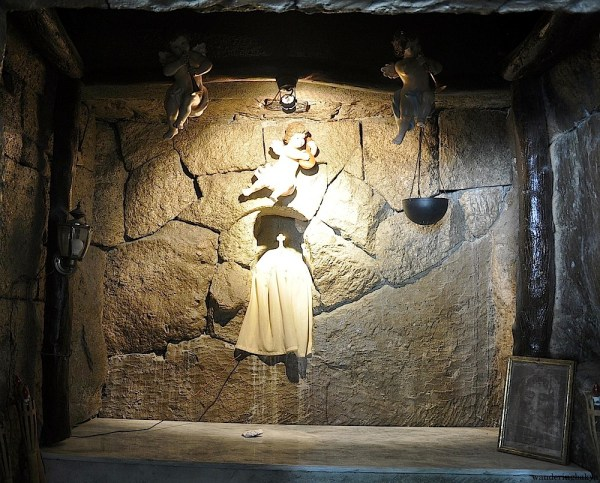 This image is found towards the end of the church basement. It is one of the popular places among the visitors.