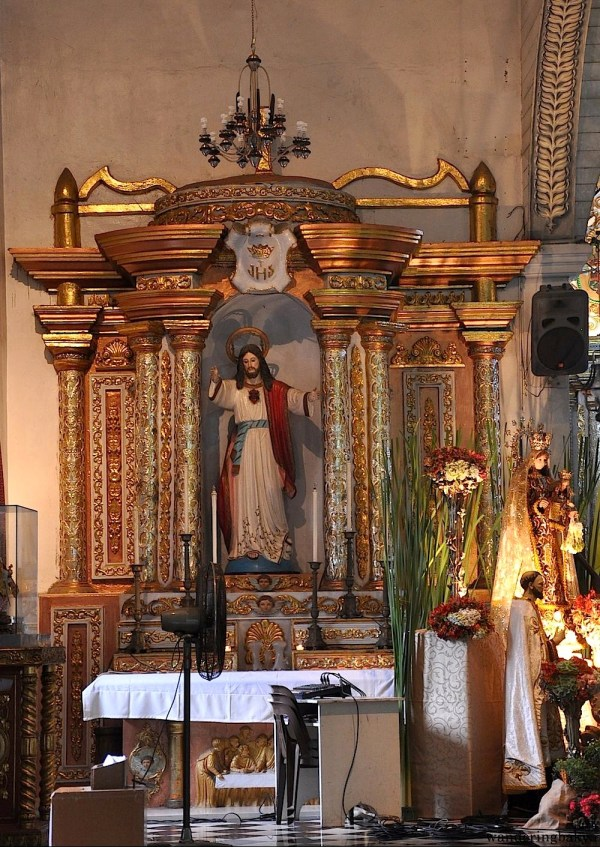 To the left of the altar of Barasoain Church