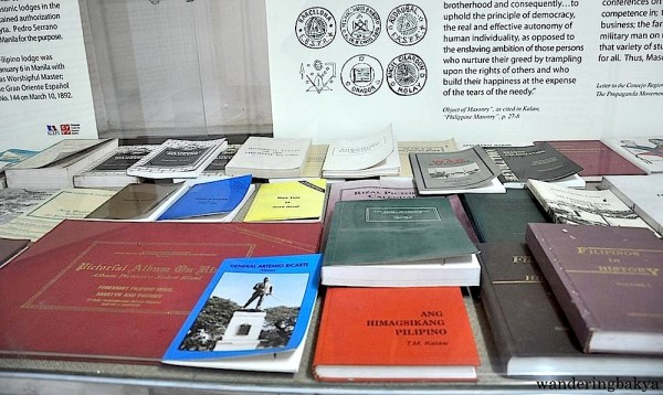 Some of the historical books displayed in the museum