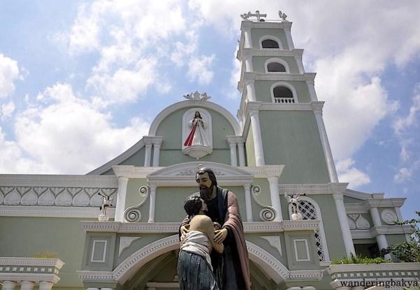 The façade of the Divine Mercy Shrine in Marilao, Bulacan