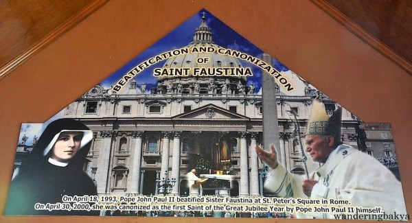 """The """"basement"""" of Pope John Paul II's house is adjacent to the """"chapel"""" where St. Faustina had a vision of the Divine Mercy. St. Faustina was a Polish nun who had visions of Jesus. She was canonized by Pope John Paul II in 2000."""