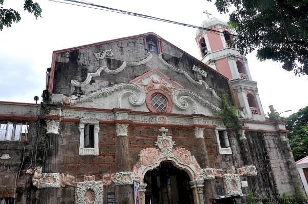 The façade of St. John the Baptist Church in Calumpit, Bulacan