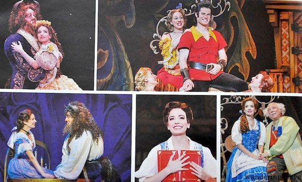 Images of Disney's Beauty and the Beast that are found inside the program