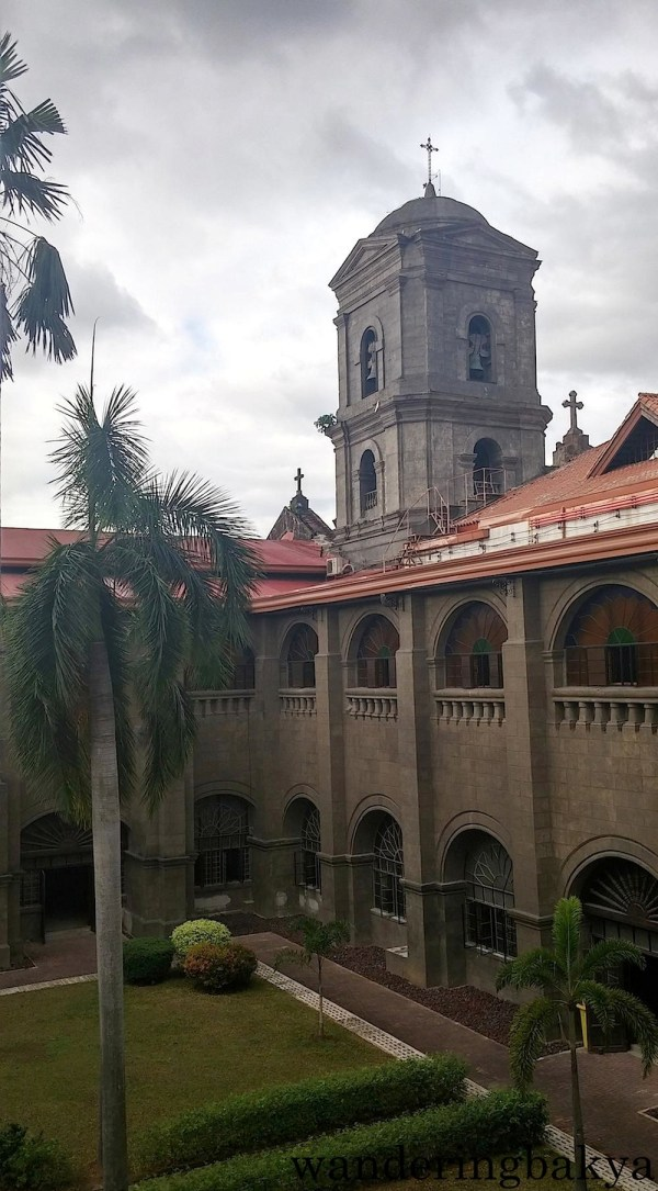 The belfry of San Agustin Church as seen from the first floor of the museum.