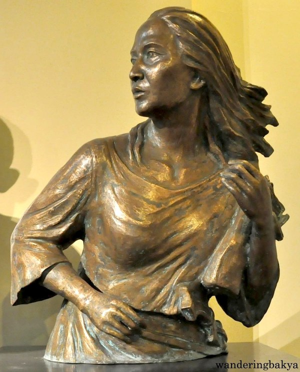 Bust of Gregoria de Jesus, or Oryang, found on the first floor of Museo ng Katipunan. Oryang was the wife of Andres Bonifacio. She was the first woman member of Katipunan and was known as the Lakambini ng Katipunan (Princess of Katipunan).