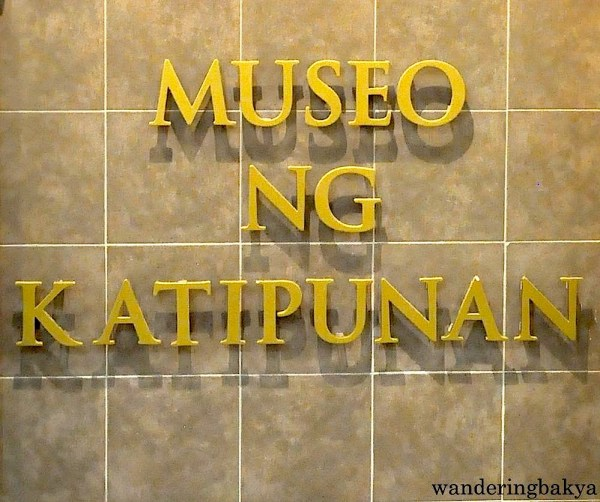 This signage is seen on the landing on the way to second floor of Museo ng Katipunan