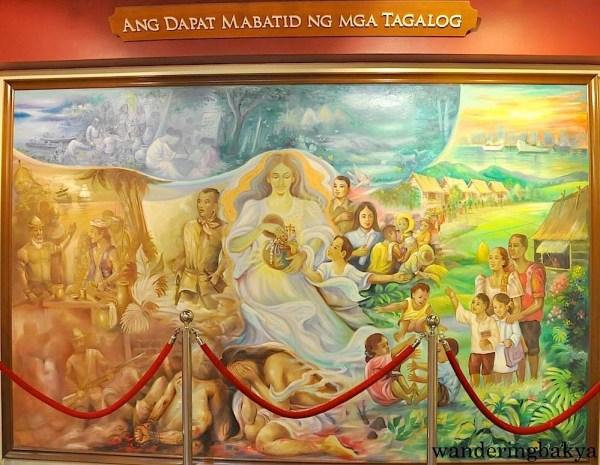 This painting is beside Andres Bonifacio's Ang Dapat Mabatid ng mga Tagalog