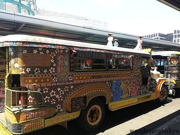The same jeepney from the rear view.