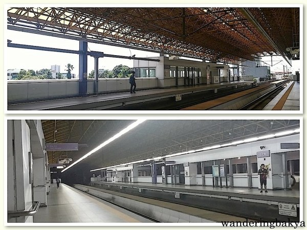 LRT 2 - J. Ruiz Station at 1230pm (top) and at 6pm (bottom).