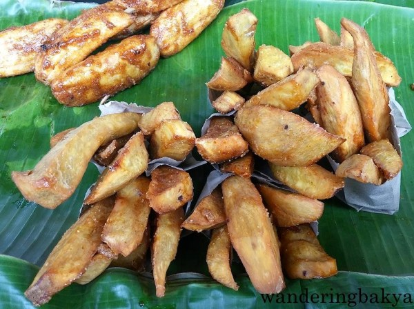 Sliced camote (sweet potato) without the overflowing presence of brown sugar, P15.00 (US $0.34)
