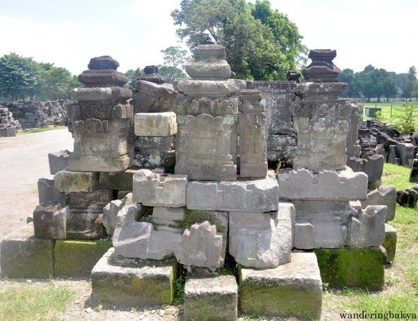 Some of the remains of the temples that got destroyed over time. They were located near the markers.
