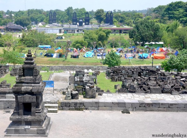 Camping ground found adjacent to Prambanan temples