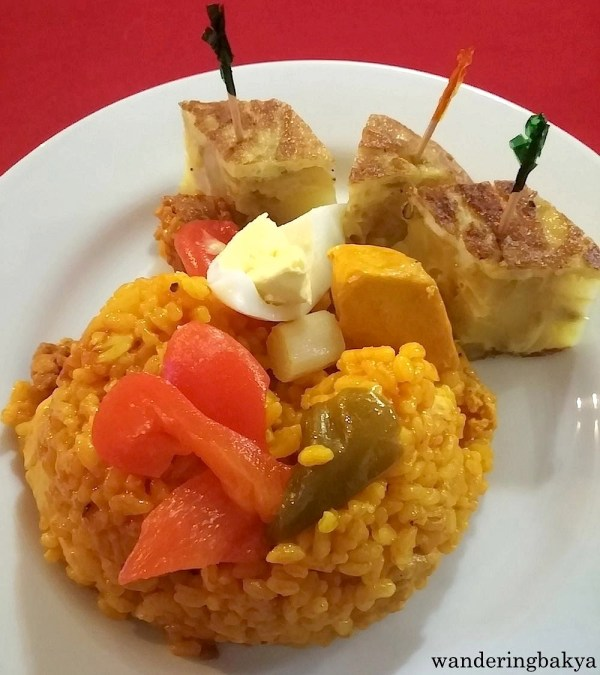 Paella and Tortilla de Patata.