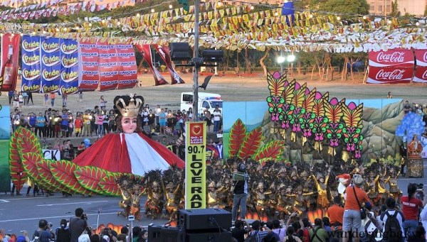 Sinulog Festival's ever-present Sto. Niño. Sinulog Festival won second place at this year's Aliwan Fiesta.