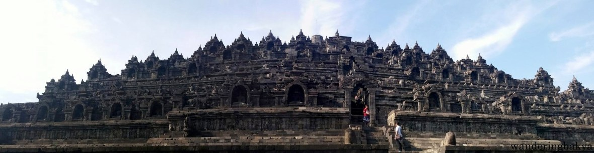 Panoramic view of the Borobudur temple