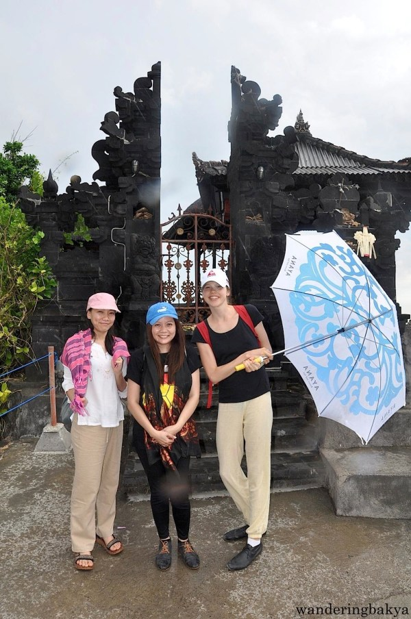 Virg, Kira and I at Pura Batu Bolong