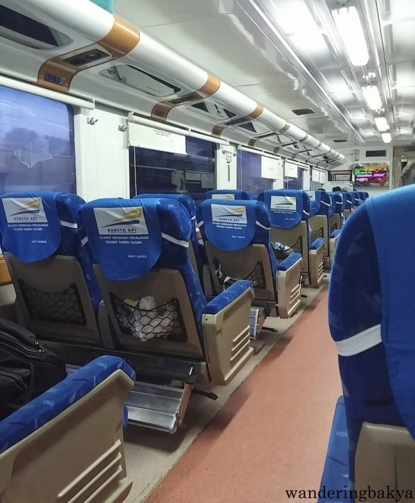 The sleeper train looked like this as we neared Jakarta. The locals helped us in taking our luggage out of the overhead cabin. :)
