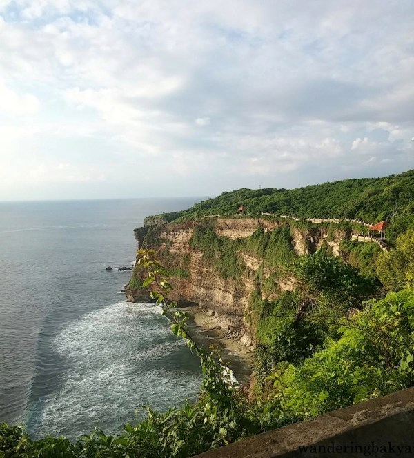 The right side of Pura Luhur Uluwatu. The whole area is open to tourists.