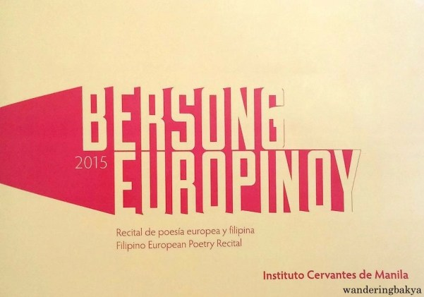 The front cover of the poetry compilation of Bersong Europinoy 2015