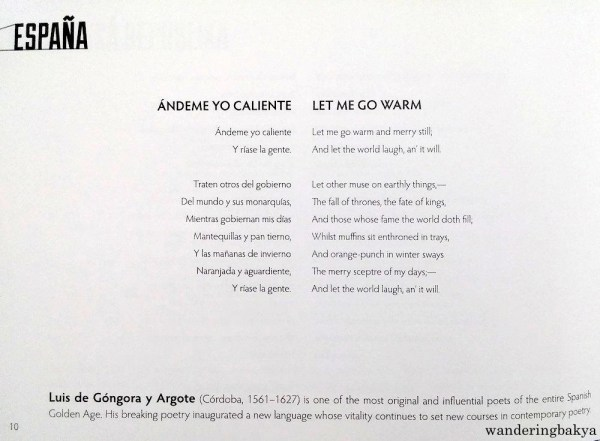 Ándeme Yo Caliente (Let Me Go Warm) by Luis de Góngora y Argote. Translated by H. W. Longfellow. Read by Carlos Madrid Álvarez-Piñer, Director of Instituto Cervantes Manila.