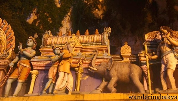 Some of the images seen inside Batu Caves.