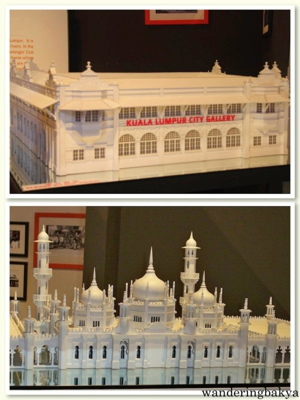 Two of the National Heritage of Malaysia buildings - Kuala Lumpur City Gallery and Masjid Jamek or Jamek Mosque.