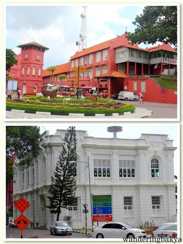 Some of the historical buildings found in Melaka.