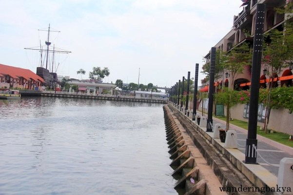 Melaka River as it extends into the other historical parts of Melaka.