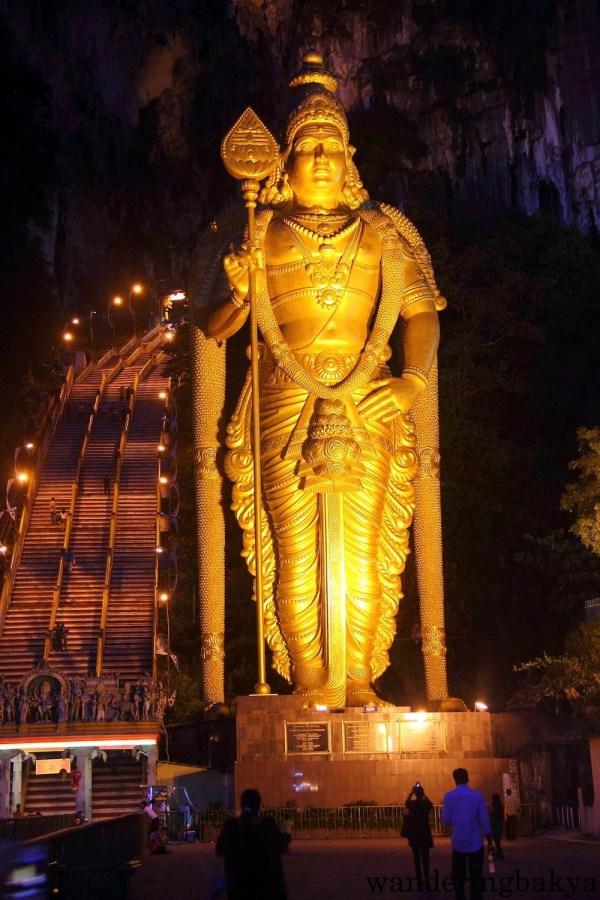 The World's Tallest Murugan Statue is located in Batu Caves.