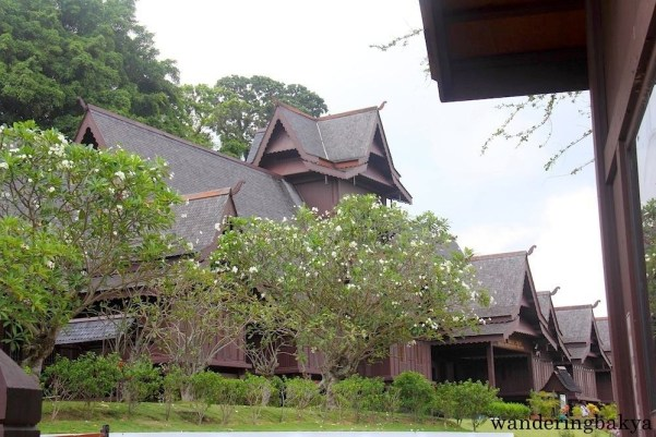 Replica of 15th-century Istana Kesultanan Melaka or Malacca Sultanate Palace. The structure has seven enclosed porches and sloping roofs which represent Malay arts and crafts. The amazing thing is NO NAIL was used in its construction!