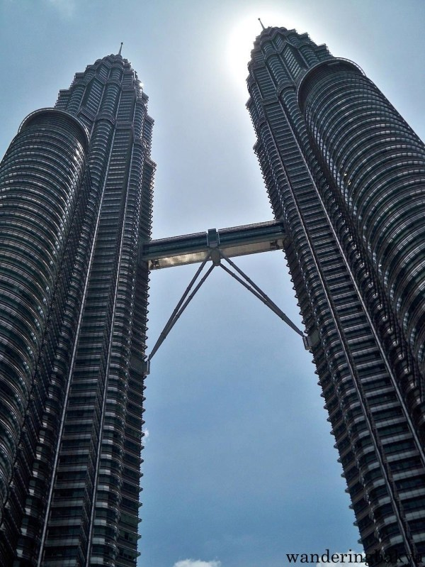 Menara Petronas or Petronas Twin Towers are the tallest twin towers in the world at 1,483 feet.