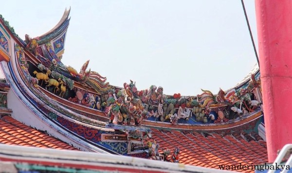 Details of the roof of a house along Jonker Walk