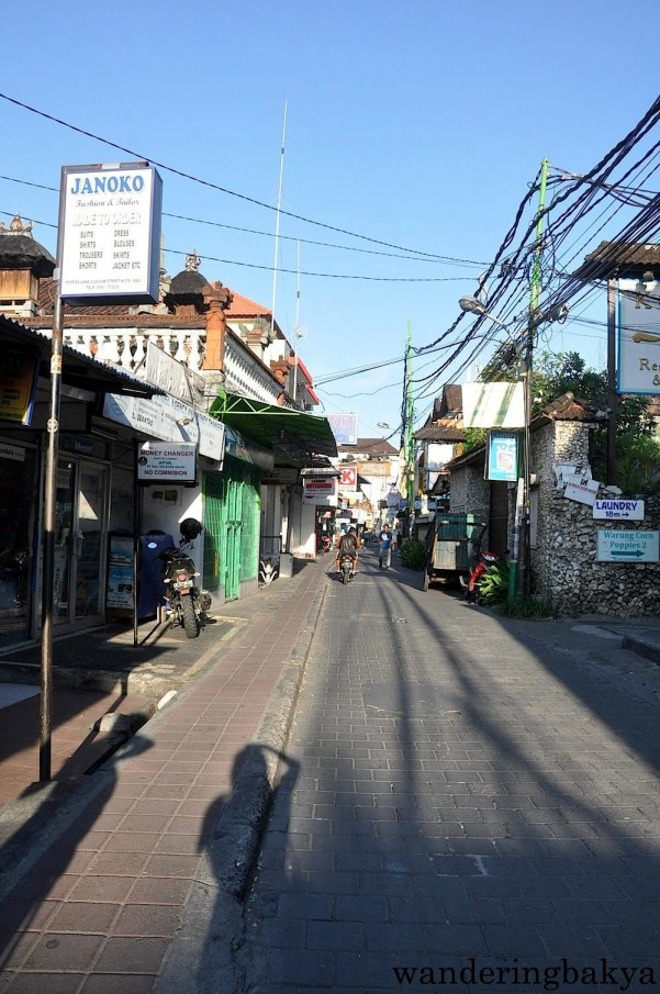 Legian Street was almost deserted at 8am.