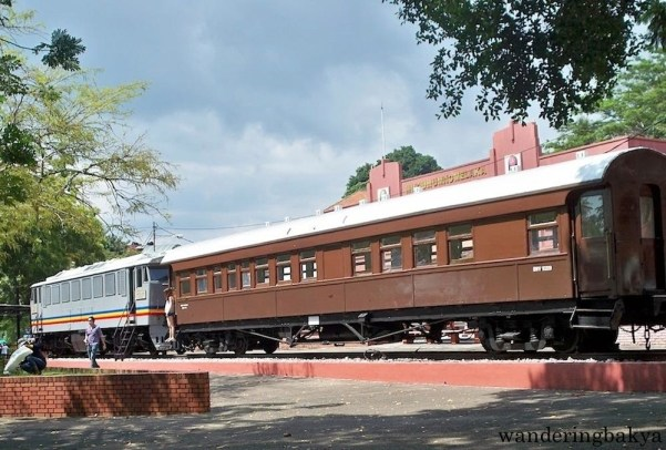 An old train on display in Melaka