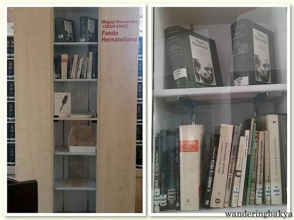 Sección Miguel Hernández inside the Miguel Hernández Library.