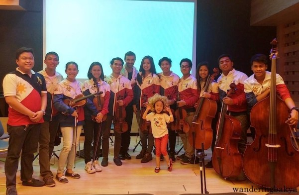 David Delgado and the Orchestra of the Filipino Youth Quorum.