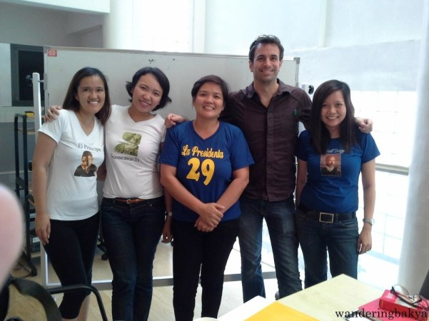 A photo taken after the class with our current professor, Jorge.