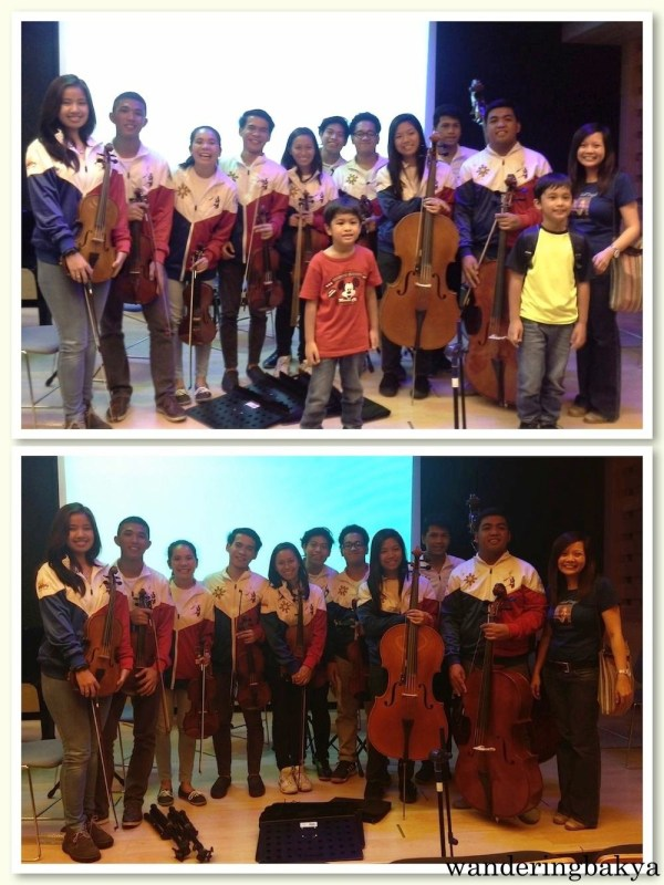 Me, Jacob and Kody with the Orchestra of the Filipino Youth Quorum.