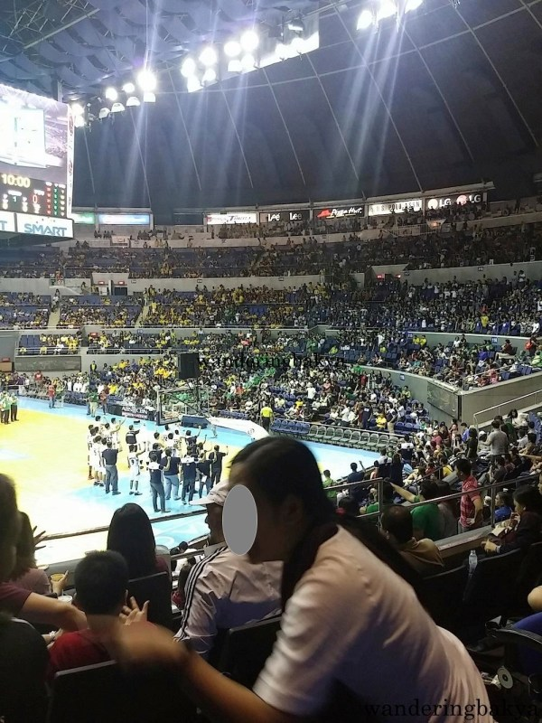 The Adamson Falcons and their fans singing their school hymn.