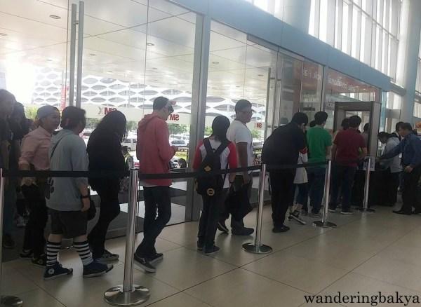 This was the queue at The 36th Manila International Book Fair on Sep. 19, 2015 at 10am.