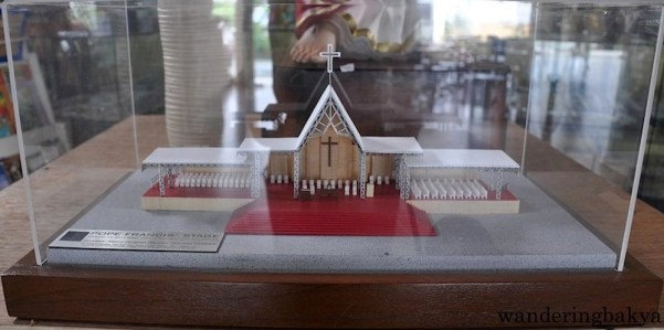 Scale model of Pope Francis' Stage at the Quirino Grandstand.