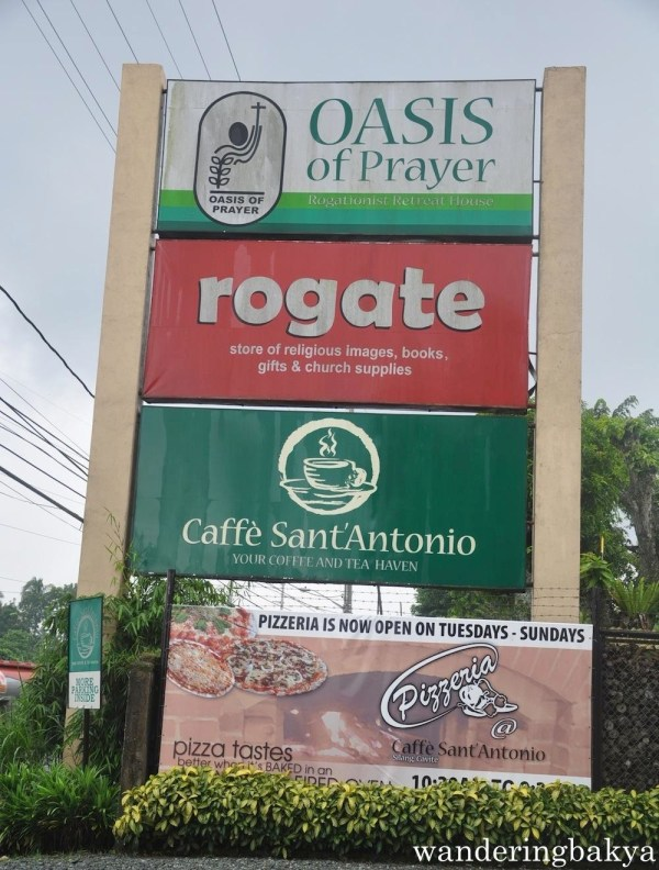 The signage that greets customers to Caffé San'Antonio. This is along Km 51.8 Emilio Aguinaldo Highway, Lalaan 2, Silang Cavite.