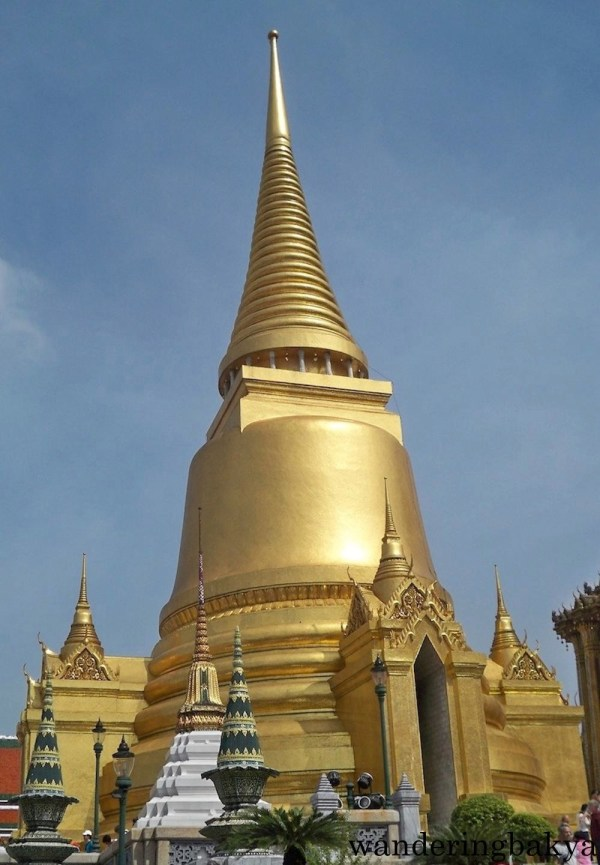 At The Upper Terrace of The Grand Palace, reliquaries in the shape or golden stupa or chedi are found.