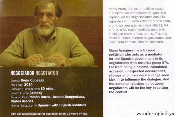 Summary and other details of Negociador (Negotiator) by Borja Cobeaga